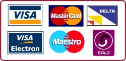 Visa, Mastercard, Maestro, Solo all accepted at Wembley Motors